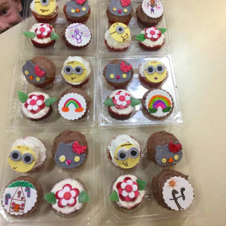 Decorated Cupcakes completed at a class